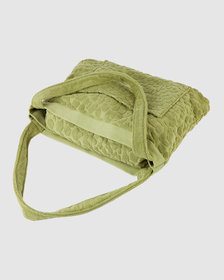 TERRY TOTE  - OLIVE