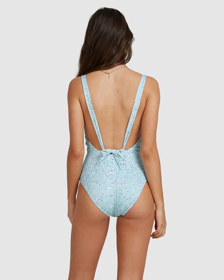 WOMENS LILIES SURF ONE-PIECE SWIMSUIT