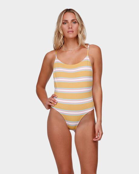 Swells Up Stripe One Piece