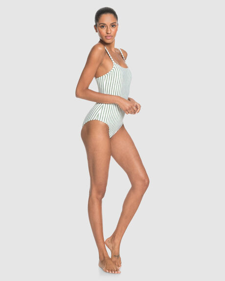 WOMENS PRINTED BEACH CLASSICS ONE-PIECE SWIMSUIT