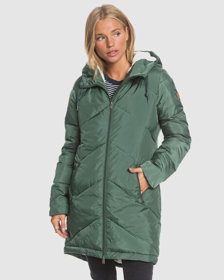 WOMENS STORM WARNING WATER RESISTANT LONGLINE PUFFER