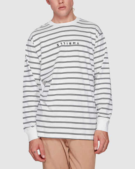 MINIMAL THRILLS STRIPE MERCH FIT LONG SLEEVE TEE