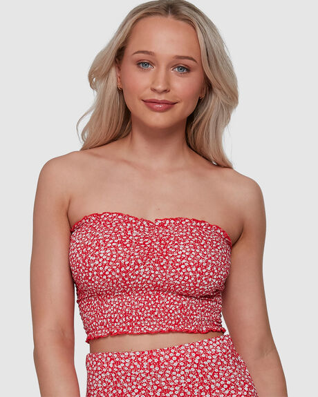 PRINT CINCH TUBE TOP