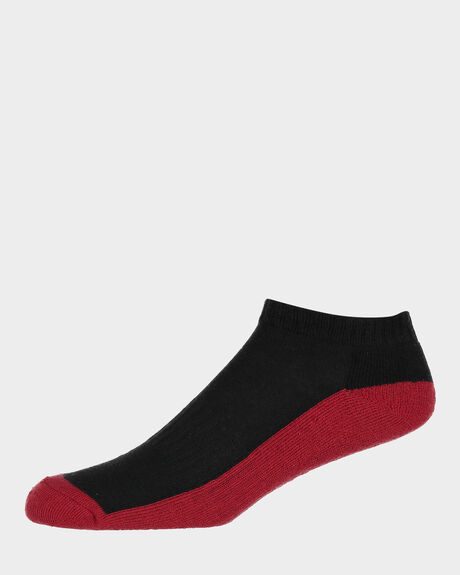 M ANKLE BLACK RED MULTI