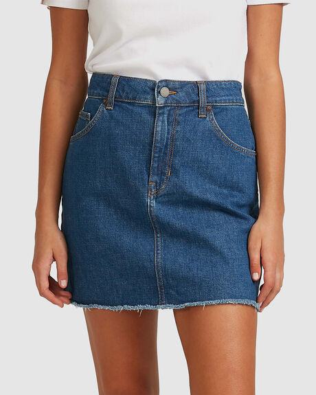 WOMENS SHOW US LOVE DENIM SKIRT
