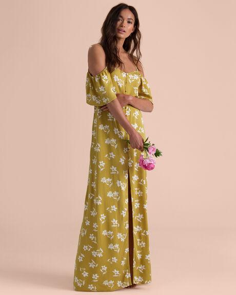 SHOULDER SWAY MAXI DRESS