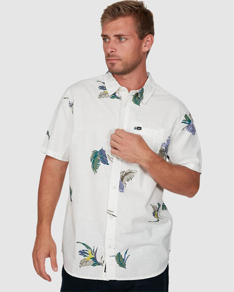 MENS SUMMER FLORAL SHORT SLEEVE SHIRT