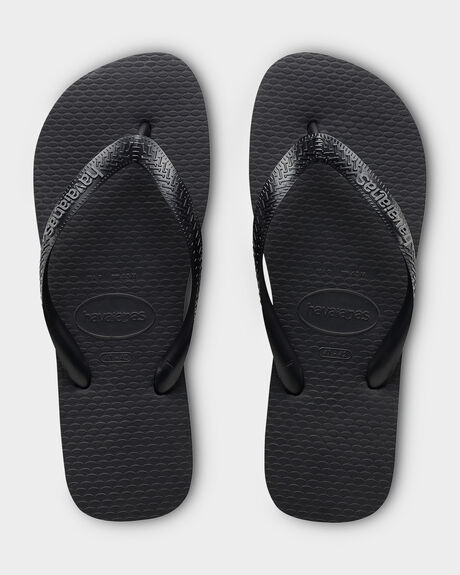 HAVAIANAS RUBBER LOGO BLACK/STEEL GREY THONG