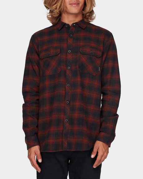 BARWON PLAID FLANNEL LS SHIRT