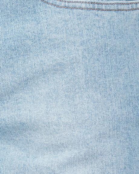 DESTROYED BONES DENIM SHORT - LIGHT THRIFT BLUE
