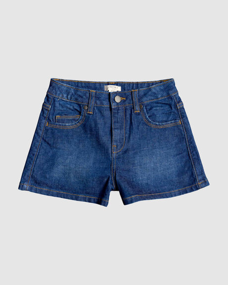 GIRLS 8-14 SPECIAL SUMMER HIGH WAIST DENIM SHORTS