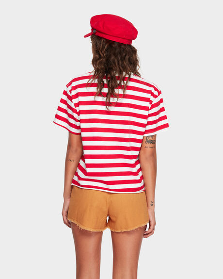 STRIPED SUMMER SLOUCH TEE