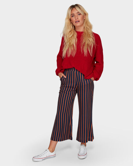 FLARE CROP PANT STRIPE