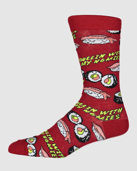 SUSHI SOCK 81309 RED