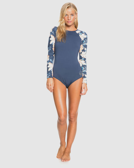 WOMENS LILIES SURF LONG SLEEVE UPF 50 ONE-PIECE SWIMSUIT
