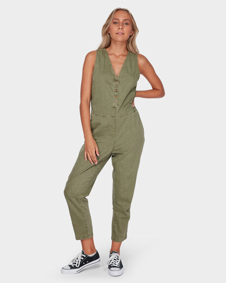 SHADOWS JUMPSUIT - ARMY GREEN