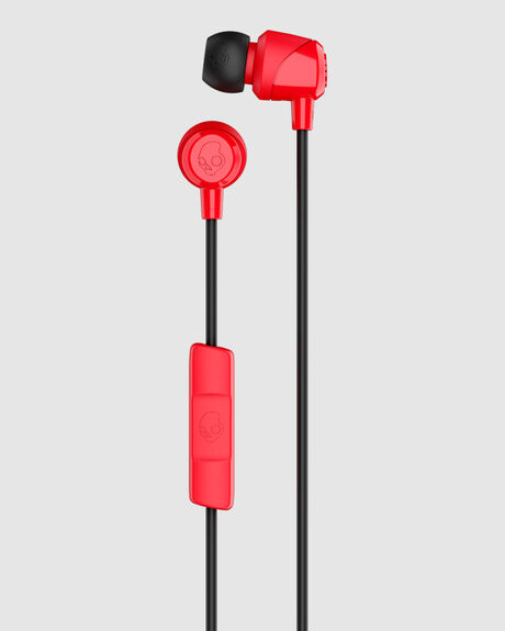 JIB IN EAR W/MIC 1 RED/BLACK/RED