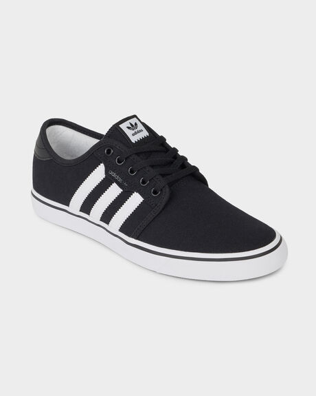 ADIDAS SEELEY BLACK/ WHITE/ GUM SHOE