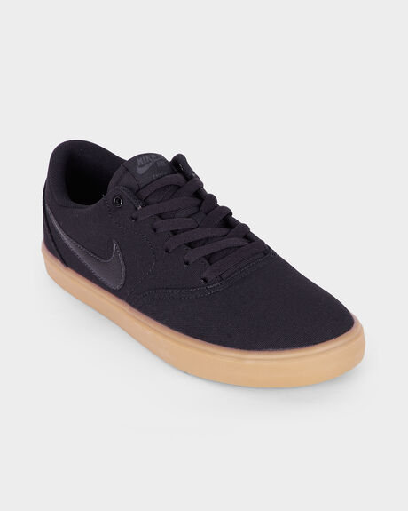 NIKE SB CHECK SOLARSOFT BLACK GUM SHOE