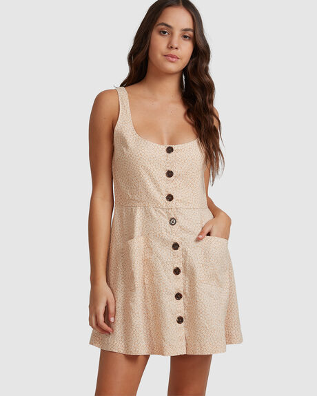WOMENS MINNIE HEMP BUTTON DOWN DRESS