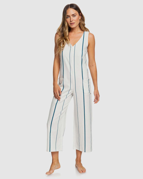WOMENS BABY REMEMBER STRIPED LINEN JUMPSUIT