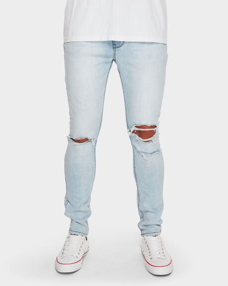 MENS A DROPPED SKINNY JEAN WANNA RIDE JEAN