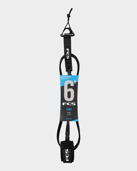 FCS 6' COMP ESSENTIAL LEASH BLACK