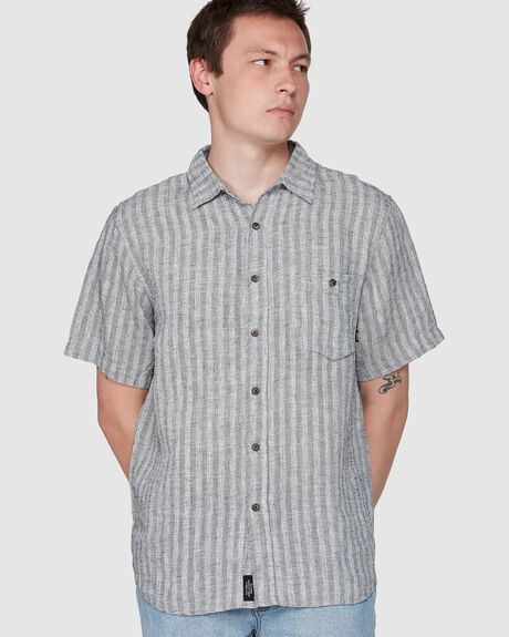 CAUZED STRIPE SHORT SLEEVE SHIRT