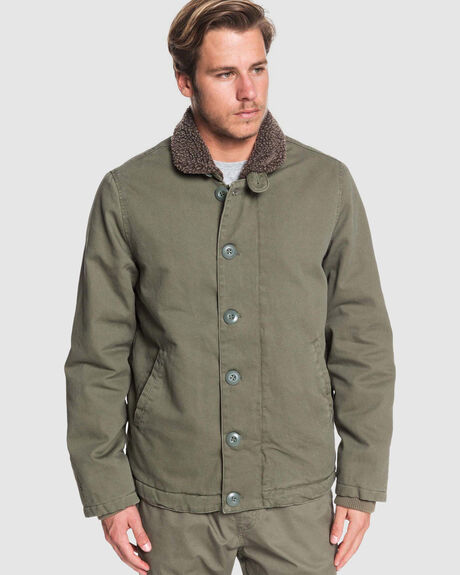 MENS WATERMAN STORMY WEATHER SHERPA LINED JACKET