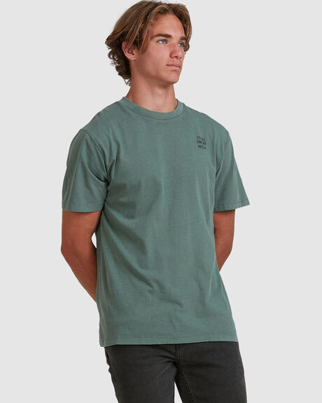 PARADISE IN RUINS MERCH FIT TEE - LUME GREEN