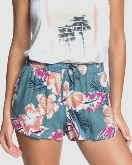 WOMENS THERE YOU ARE PRINTED BEACH SHORTS