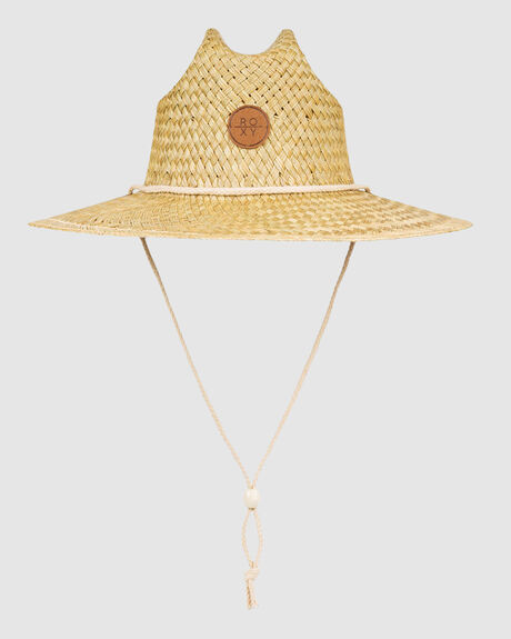 SUNSHINE ON MY MIND STRAW LIFEGUARD HAT